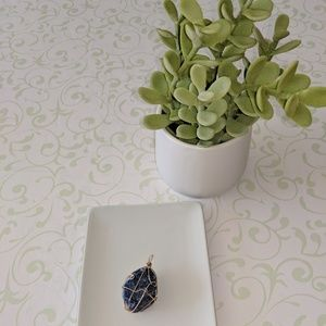 Jewelry - Wire Wrapped Blue Sodalite Crystal Pendant NEW